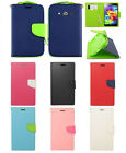 Samsung Galaxy Avant Folio Case Pouch Wallet W/ Card Slot Phone Cover Hand Strap