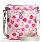 NWT COACH Floral POPPY PVC Swingpack Crossbody Bag Shoulder F51105 Pink Heart