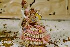 Dresden Miniature Couple Reading -- Beautiful pink and white lace! Less than 5