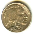 1937 D Buffalo Nickel 3 Legs No Cleaning Full Mint Luster Scarce Mint Error