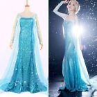 Hallow Frozen Queen Elsa Cosplay Dress Snow Cosplay Costume Adult Lady Size S-L