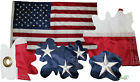 USA Fahne genht gestickte Sterne US American Flag embroidered stars 150x90cm