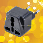 New Universal UK/US/EU/AU to Brazil and EU EUROPE Travel Power Adapter Plug