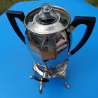Coffee Peculator Pot Urn Electric Antique Universal Silver Plated Vintage