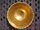 Nice Vintage Handmade India Hammered Brass with Copper Foot Bowl Cut Out Design