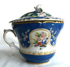 Antique Imperial Russian Porcelain Chocolate Cup with Cover by Kuznetsov
