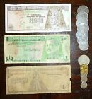 Guatemala Costa Rica Foreign Banknote Coins CURRENCY Paper Money Quetzal Colones
