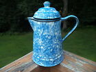 Stangl Town & Country Blue Spongeware Teapot/Chocolate Pot