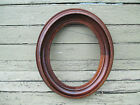 Victorian BLACK WALNUT mirror - picture CIRCA 1800s OVAL shape DEEP FRAME clean