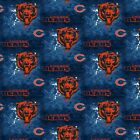 NFL Chicago Bears Distressed Cotton Fabric 60