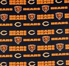 NFL Chicago Bears Blue Logo Cotton Fabric By the Yard 60