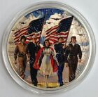 2003 1oz .999 Fine Silver Eagle Dollar Departement Of The Army USA Painted Rare