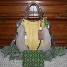 orYANY Pebble Leather Colorblock Victoria Large Hobo NWT