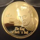 New! Elvis Presley King of Rock 'N' Roll .999 24k Gold plated Coin