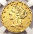 1855-S Liberty Gold Half Eagle $5 - NGC AU Details - Very Rare Date Gold Coin