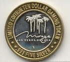 Mirage Casino  Limited Edition Ten Dollar Gaming Token  .999 silver with gold