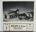 BUILDERS IN SCALE~WEIRY & SONS WELL DRILLING BUILDING KIT~CRAFTSMAN KIT~HO SCALE