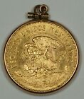 1959 Mexico 20 Pesos Gold Coin Circulated Condition in 14kt Gold Bezel