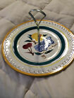 VINTAGE STANGL POTTERY FRUIT YELLOW TRIM ROUND SERVING PLATTER TRAY DISH PLATE