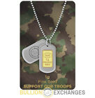 1 Gram Gold Bullion Exchanges Army Camouflage .9999 IGR Bar (In Assay)