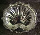 VINTAGE POOLE OLD ENGLISH #5013 EPC SILVERPLATE FOOTED SHELL 16