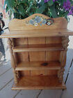 Vintage  Solid Wood Plate Teacup Display Rack Wall Curio Shelf