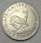 1953 South Africa 5 Shillings KM# 52 .500 Silver Coin
