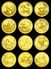 LOT 1/2oz Ounce GOLD 24k 999 FINE CLAD COIN RARE Chinese Zodiac Year Troy