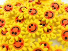 DIY 10PCS Sunflowers Rubber Charms For Rainbow Loom Bands for bracelet