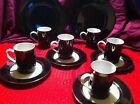 Fitz & Floyd Black Porcelain China Lot