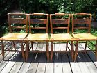 4 ANTIQUE SIGNED HITCHCOCK CHAIRS MADE IN THE U.S.A.