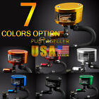 US Ship 7 Color Brake Reservoir Oil Fluid Cup Universal Fit For Yamaha YZF R6 R1