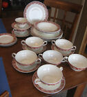 Vintage LOT Royal Petal Grindley Oakland China Dinner Plate Cream Soup Saucer