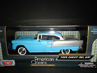 Motormax Chevrolet Bel Air 1955 Blue and Silver 1/24
