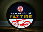 NEW BELGIUM FAT TIRE LED BACK LIT NEON BEER BAR SIGN NEW IN BOX LIGHT