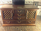 Vintage Wood Jewelry Dresser Chest MADE IN JAPAN.  Very well made and heavy