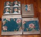 222 Fifth  Gabrielle Teal  16 Pc Service for 4 NIB