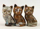 Vintage Handmade Collection Three Cute Cute Cloisonne Cat Statues
