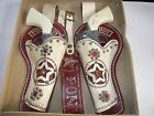 1944 Pony Boy Genuine Leather Double Holster and 2 TOY Pop Guns with Box! SALE