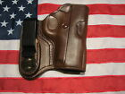 ETW Holsters 1911 Micro Compact IWB w clip tuckable RHLH dark brown leather
