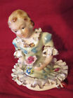THAMES VICTORIAN YOUNG LADY GIRL FIGURINE-RUFFLED SKIRT- 52/26