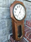 ANTIQUE SETH THOMAS LONG DROP OCTAGON REGULATOR 8 DAY CLOCK SCHOOLHOUSE