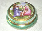 VINTAGE  KARLSBAD TRINKET/POWDER COVERED BOX  FROM  CZECHOSLOVAKIA PORCELAIN