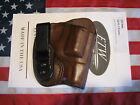 ETW Holsters SW J Frame IWB holster w clip tuckable RH dark brown leather