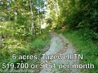 5 acres in Tennessee take over payments of 151 per month NO DOWN PAYMENT