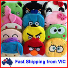 Cartoon Coin Bag Purse Plush Novelty Kids School Office Gift Toy Cute Stationery