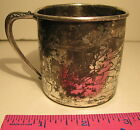 VINTAGE WM A ROGERS BABY CUP ETCHED SCENE NOAH'S ARK & ALL ANIMALS TWO BY TWO