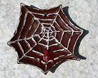 Antique Enamel Cast Iron Figural Spider Web Fly Paperweight Ashtray Change Dish
