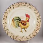 Tabletops Unlimited Boulevard Hand Painted Rooster Plate Serving Dish Chicken