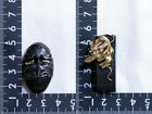 Japanese Japan Brass Iron Fuchi Kashira Fuchikashira Sword Antique Gold Tengu